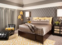 Luxurious Master Bedroom with Yellow and Grey Decorating Ideas