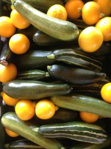 courgettes harvest at Sutton Community Farm