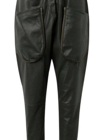 forest green depeche stretch pant