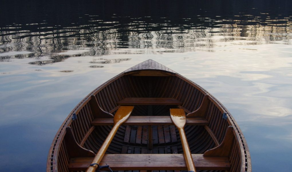 rowing boat on the lake