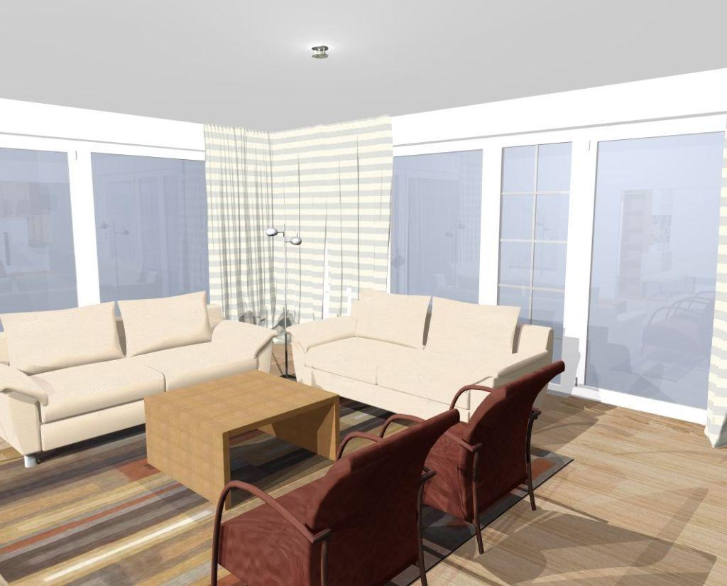 Studie obývací pokoj aokna