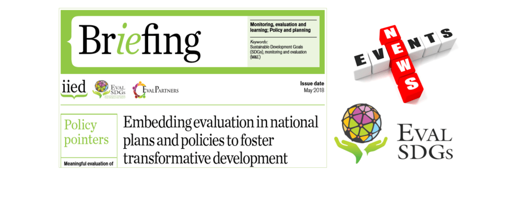 Briefing Paper 9 – Embedding evaluation in national plans and policies to foster transformative development