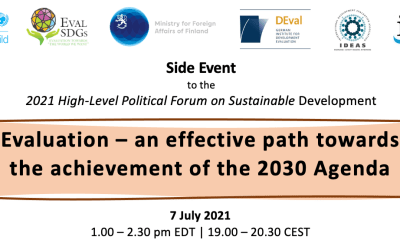 HLPF 2021 Side Event: Evaluation – an effective path towards the achievement of the 2030 Agenda