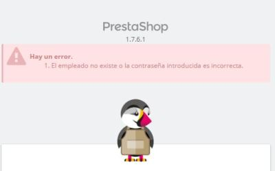 Prestashop admin login error