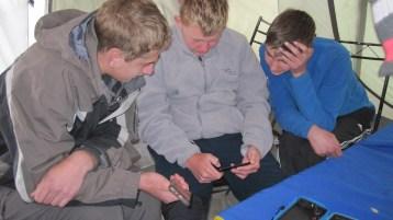 Boys feeling at home