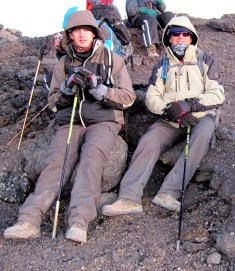 David and Adrian near summit