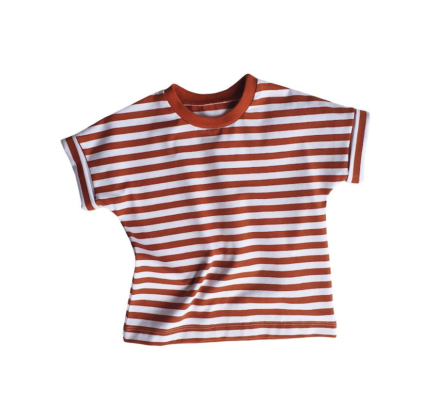 tshirt-évolutif-rayures-terracotta-evamia
