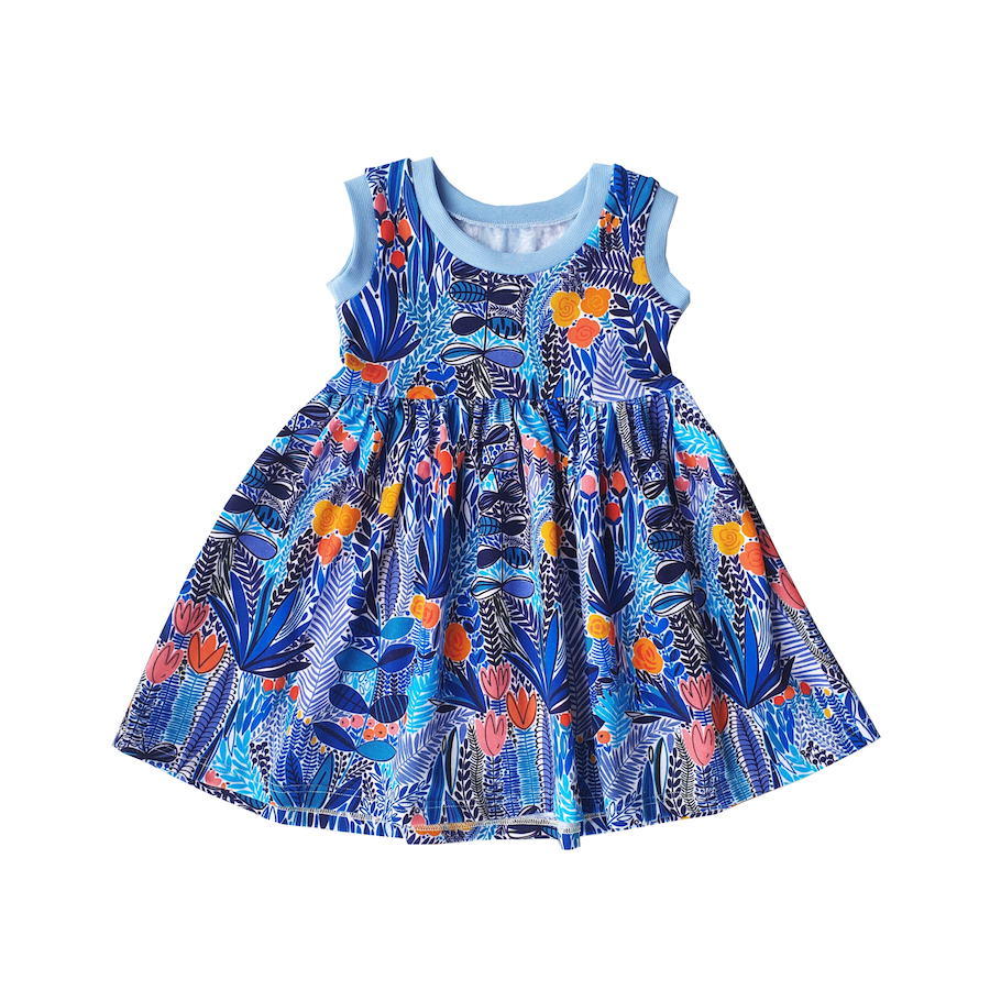 robe-clara-jungle-bleue-evamia