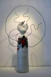 scultura ceramica maiolica CO-RAGGIO