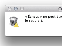 Supprimer une application Apple