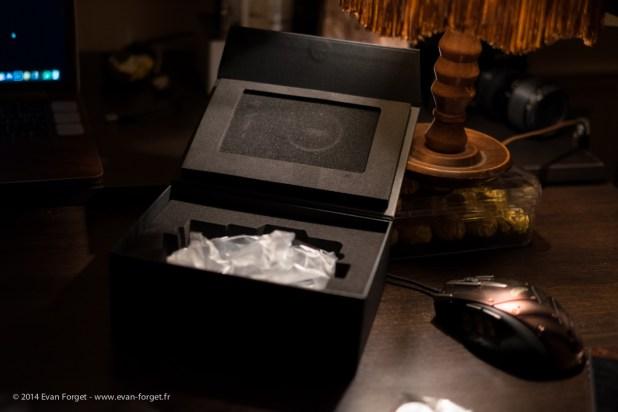L'intérieur de la boite.
