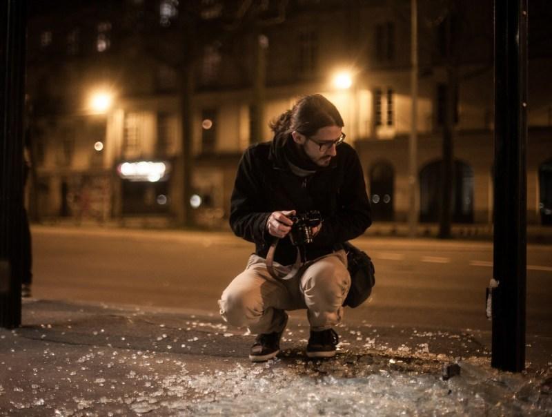 Photo de moi-même prise par Jeremie Verchere en fin de soirée sur la zone de Commerce.