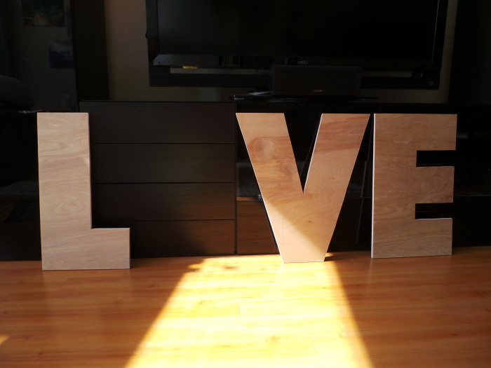 Makin' Loooooove… part 2 {DIY Marquee Letters} (4/6)
