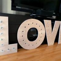 Makin' Loooooove… part 2 {DIY Marquee Letters}