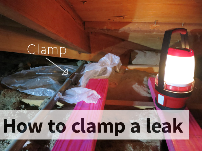 Simple-to-use clamp for fixing minor, slow leaks yourself evanandkatelyn.com