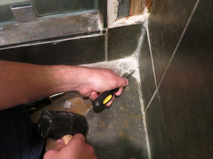 How to Remove a Loose Tile- evanandkatelyn.com