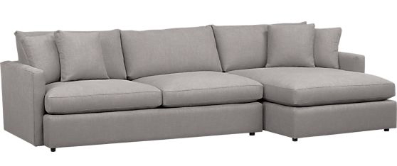 lounge-2-piece-sectional-sofa  sc 1 st  Evan u0026 Katelyn : crate and barrell sectional - Sectionals, Sofas & Couches
