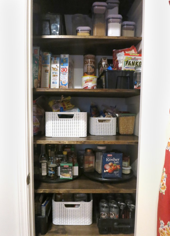 Maknig new pantry shelves - evanandkatelyn.com