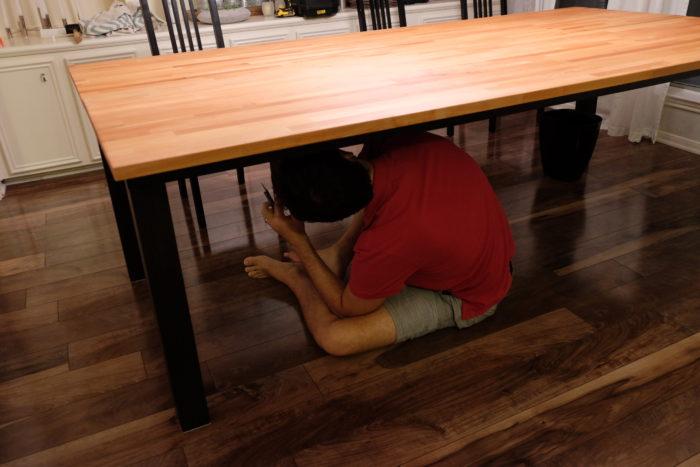 Diy Butcher Block Dining Table Evan Katelyn Home Tutorials