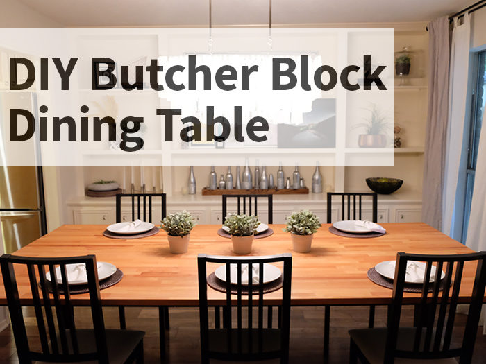 DIY Butcher Block Dining Table   Evanandkatelyn.com