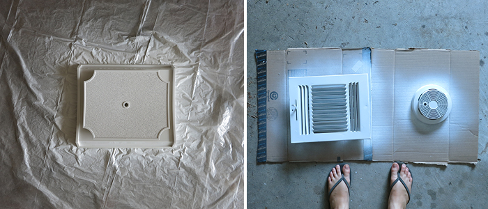 Spray Painting Vents to Match Your Ceiling - evanandkatelyn.com