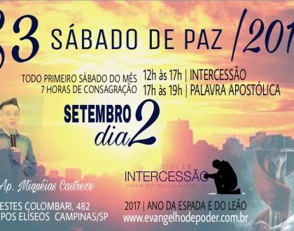 S3 - Sábado de Paz / Setembro
