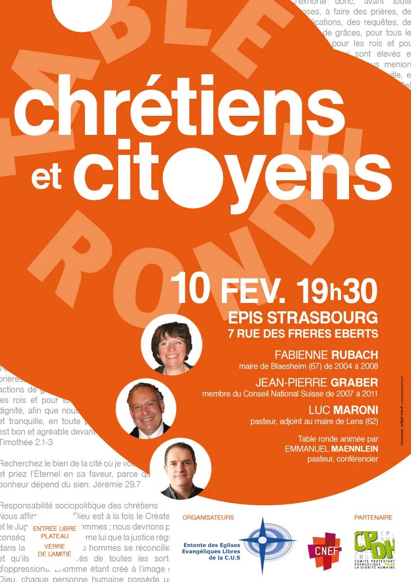 Table-ronde Chrétiens & Citoyens