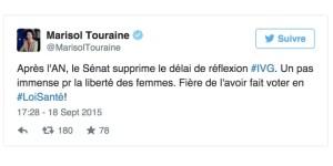 Tweet Marisol Touraine