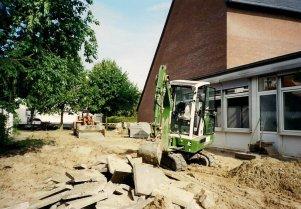 Umbauarbeiten am Gemeindezentrum der Christuskirche 1993