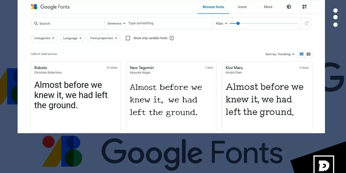 Browse Fonts Google Fonts