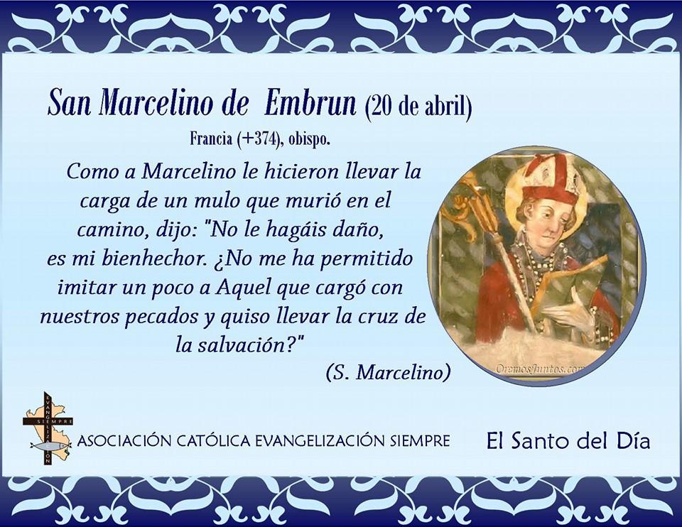 Resultado de imagen para San Marcelino de Embrun