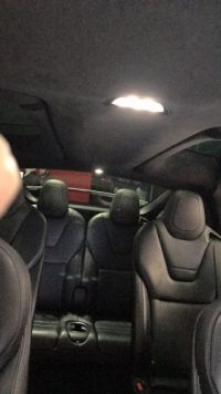 Tesla Model X rear seats