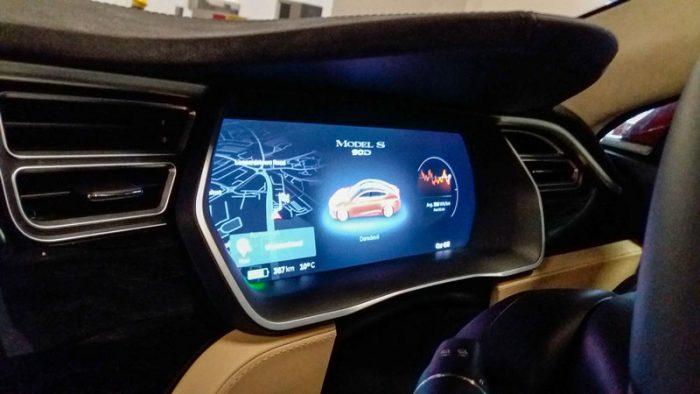 Tesla Model S Dashboard Display