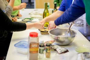 Cooking Class Hands