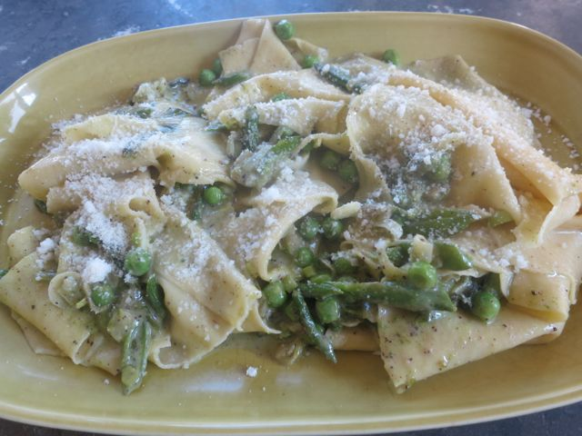 Handkerchief Pasta with Spring Veggies