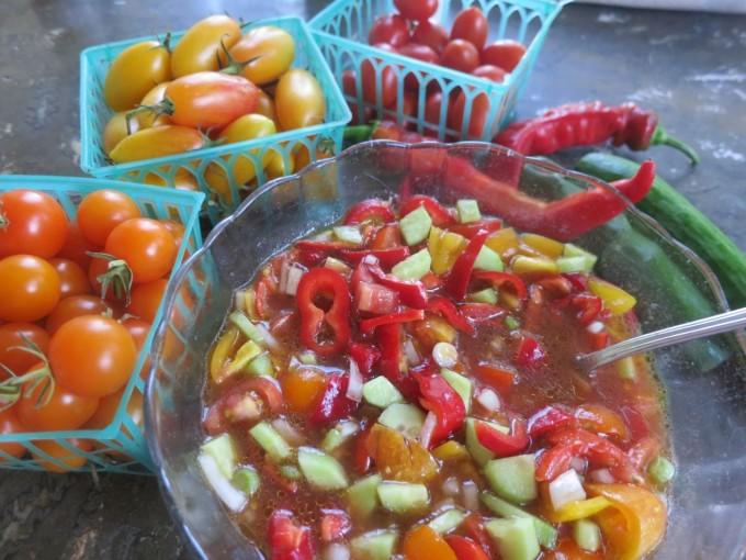 Early Fall Chopped Gazpacho 2