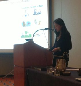 Lily Tsai presents at ASA (lousy photo by me)