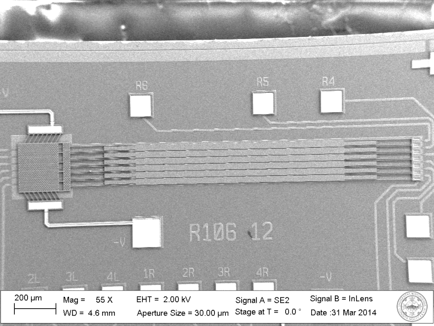 SEM Image of Deformable Mirror Array