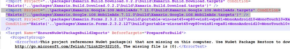 Xamarin Did not find reference matching