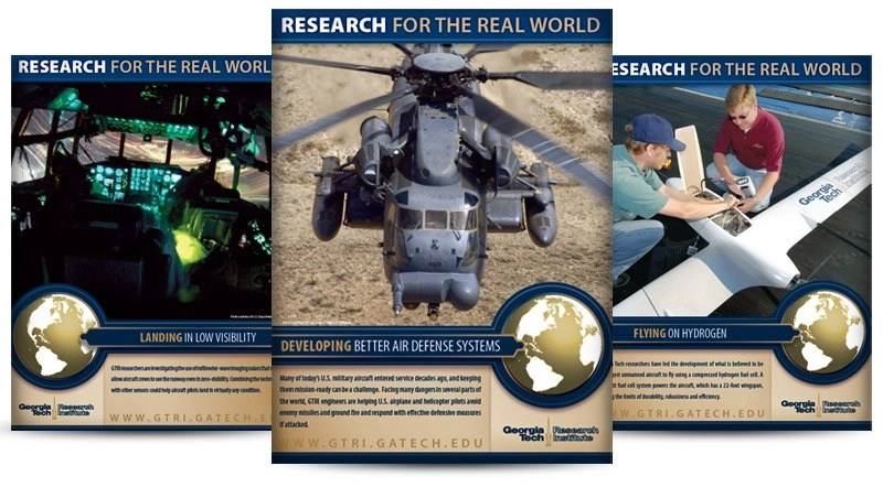 Graphic Design for Georgia Tech Research Institute by Chip Evans