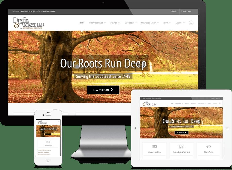 Atlanta Accounting Firm Website Design - Draffin & Tucker, LLP