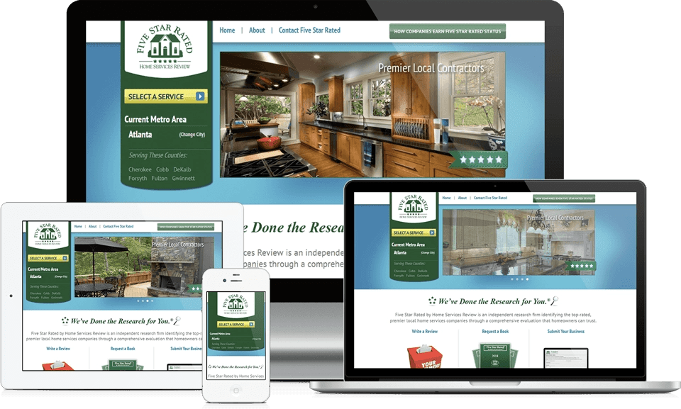 Home Services Responsive Website Design - 5 Star Rated Home Services Review