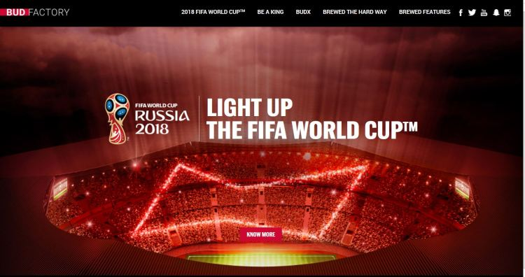 Budweiser Ramping Up Its World Cup 2018 Marketing Efforts