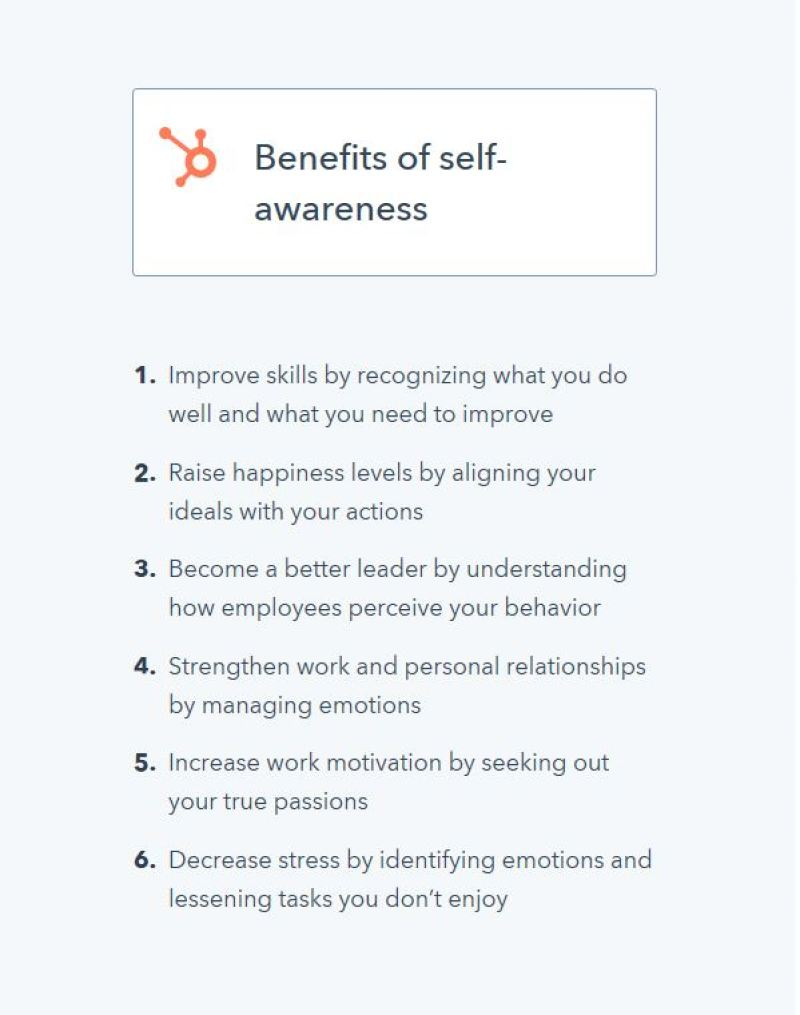 Are You Self-Aware? Benefits