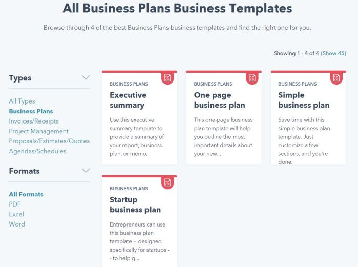 Building a Business Plan -- from HubSpot