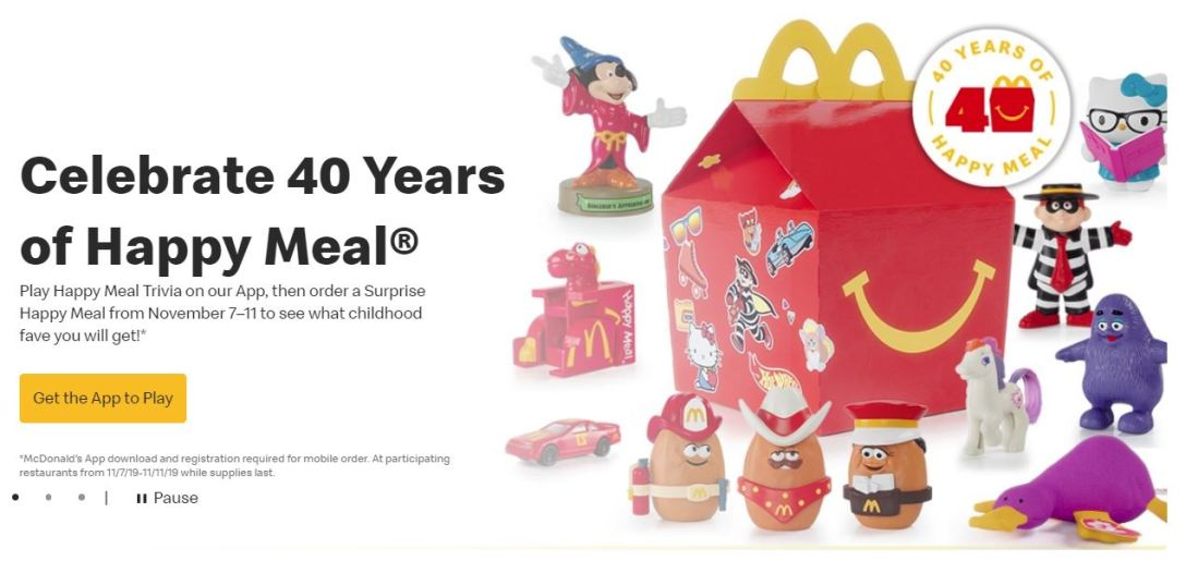 The Very Brief Return of McDonald's Happy Meal Toys