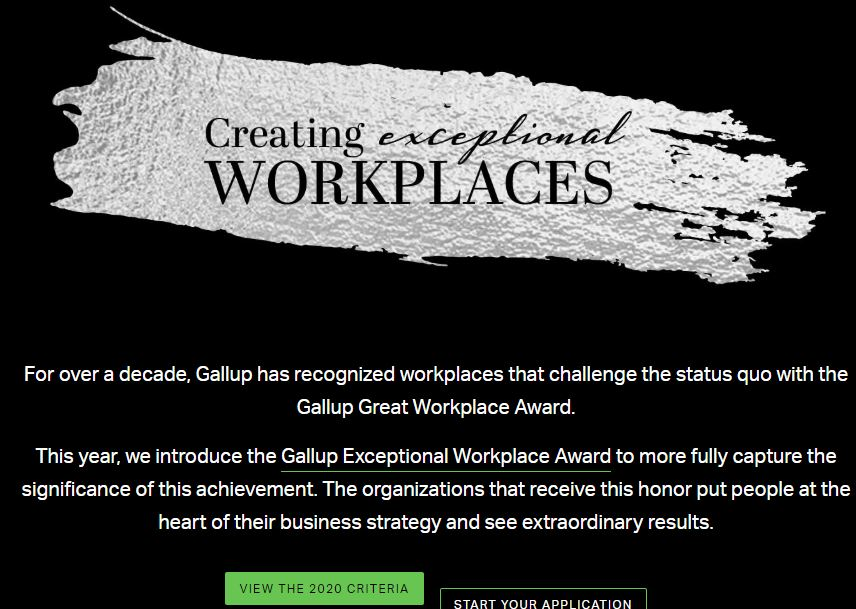 Exceptional Workplace Award