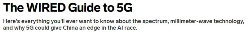 The State of 5G in 2020