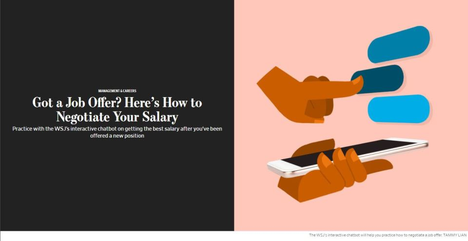 From the Wall Street Journal: A Great Tool for Salary Negotiations