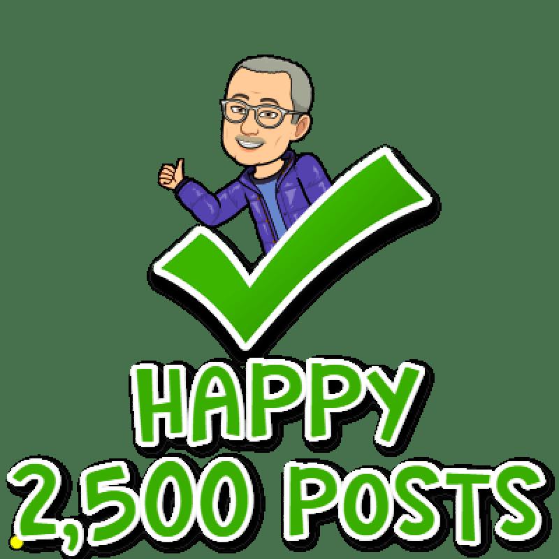 Evans on Marketing Hits 2500 Posts